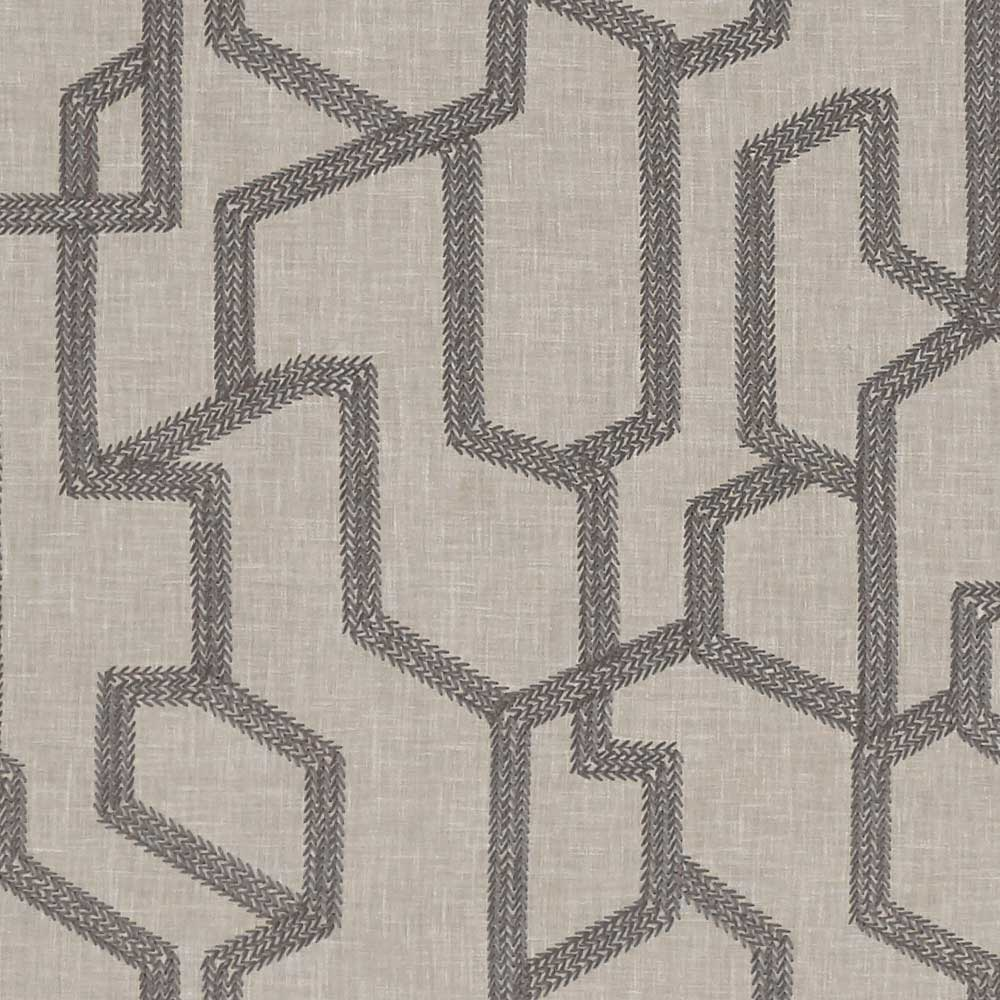 Labyrinth Fabric - Charcoal - by Clarke & Clarke