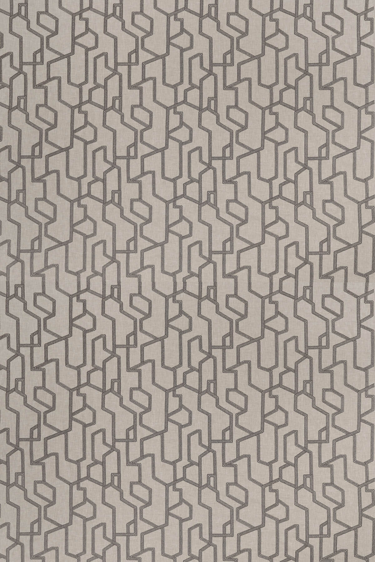Clarke & Clarke Labyrinth Charcoal Fabric - Product code: F1300/01