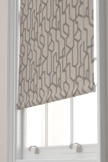 Clarke & Clarke Labyrinth Charcoal Blind - Product code: F1300/01