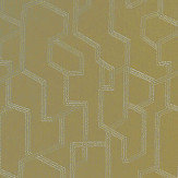 Clarke & Clarke Labyrinth Citron Fabric