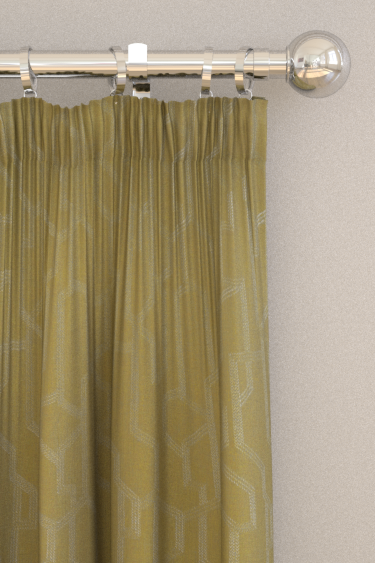 Clarke & Clarke Labyrinth Citron Curtains - Product code: F1300/02