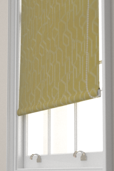 Clarke & Clarke Labyrinth Citron Blind - Product code: F1300/02
