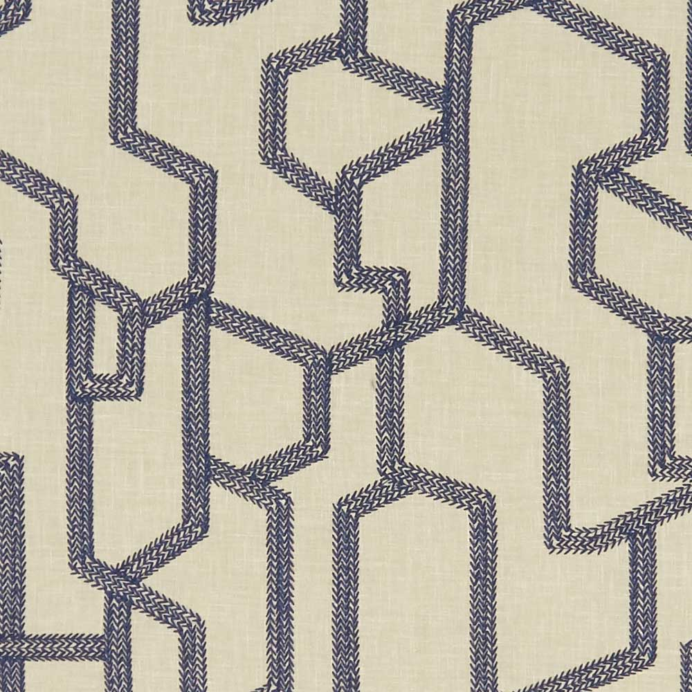 Clarke & Clarke Labyrinth Midnight Fabric - Product code: F1300/04