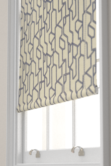Clarke & Clarke Labyrinth Midnight Blind - Product code: F1300/04