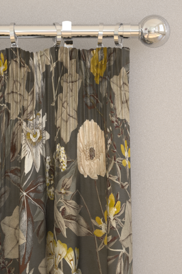 Clarke & Clarke Passiflora Charcoal Curtains - Product code: F1304/01