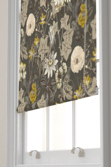 Clarke & Clarke Passiflora Charcoal Blind - Product code: F1304/01