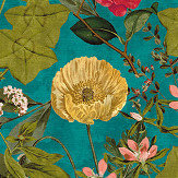Clarke & Clarke Passiflora Kingfisher Fabric - Product code: F1304/02