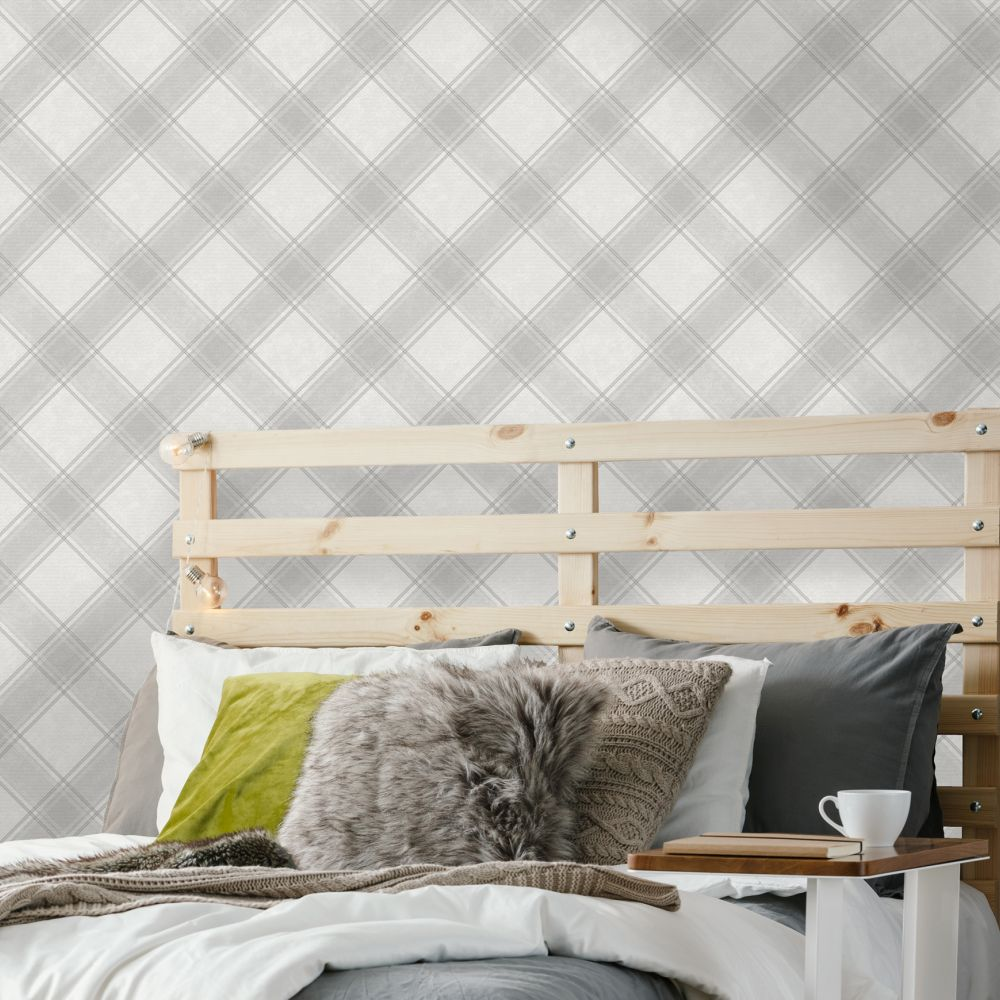Albany Ainsley Grey Wallpaper - Product code: 90640