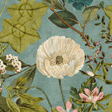 Clarke & Clarke Passiflora Mineral / Blush Fabric - Product code: F1304/04
