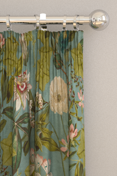 Clarke & Clarke Passiflora Mineral / Blush Curtains - Product code: F1304/04