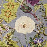 Clarke & Clarke Passiflora Slate / Amethyst Fabric - Product code: F1304/05
