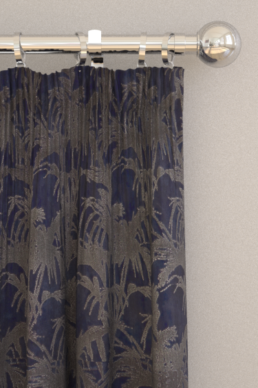 Clarke & Clarke Tropicale Midnight Curtains - Product code: F1305/04