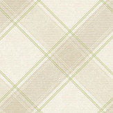 Albany Ainsley Beige and Green Wallpaper