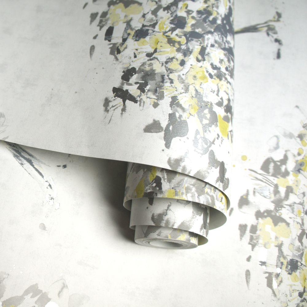 Albany Beacon Fell Yellow and Grey Wallpaper extra image