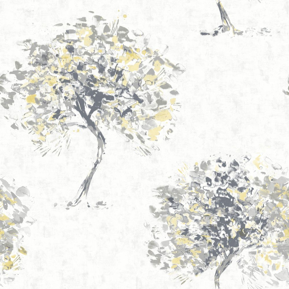 Albany Beacon Fell Yellow and Grey Wallpaper - Product code: 90650