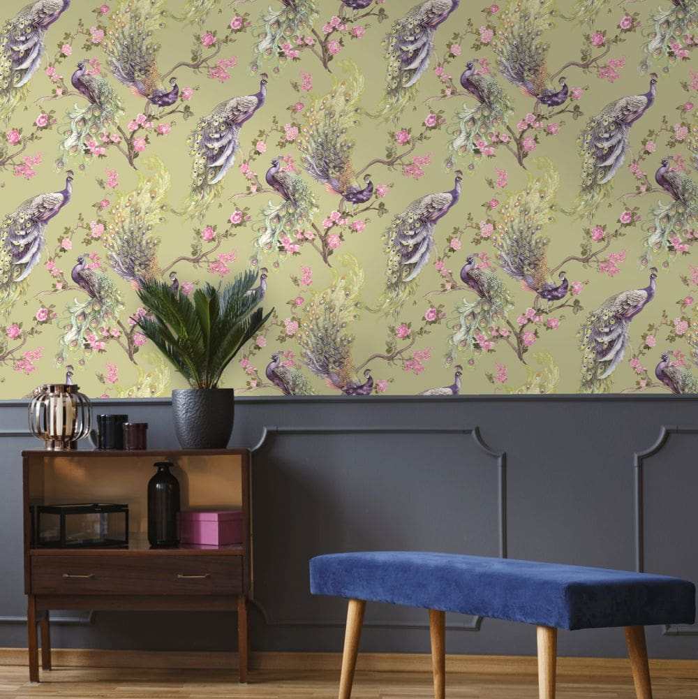 Sana Wallpaper - Green - by Albany