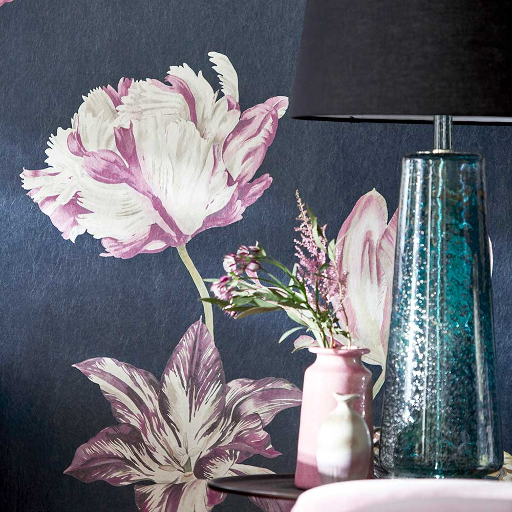 Tulipomania Mural - Ink - by Sanderson