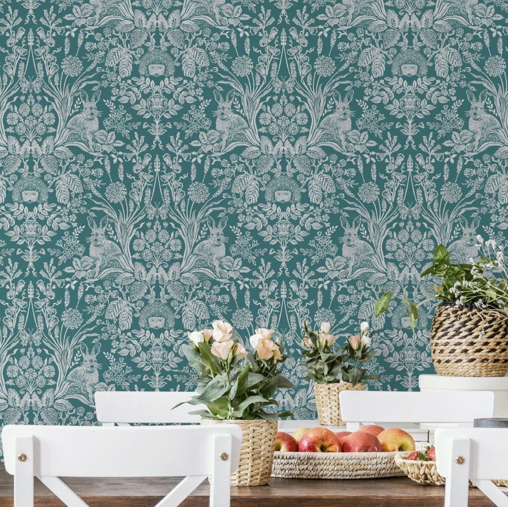 Albany Bexley Dark Green Wallpaper - Product code: 90800