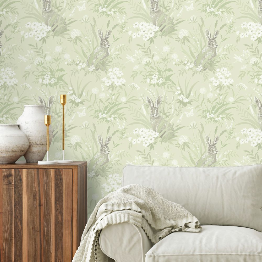 Albany Countryside Green Wallpaper - Product code: 90811