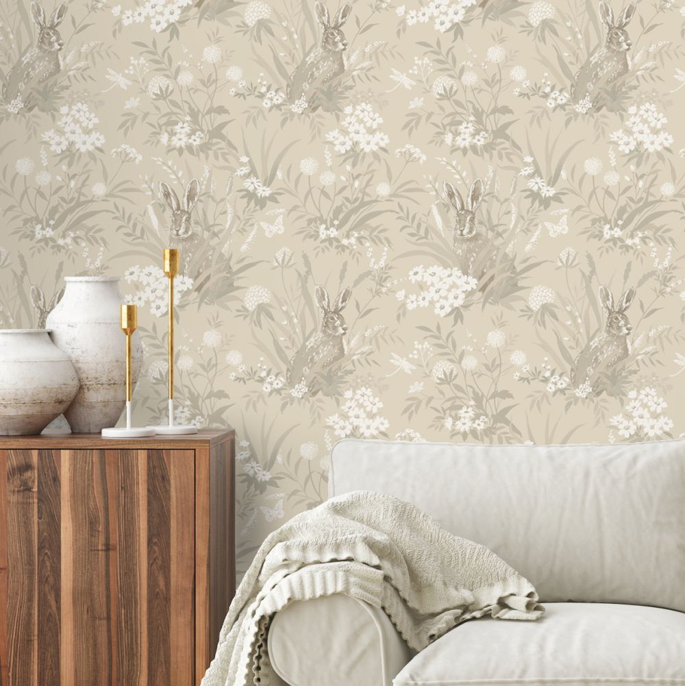 Albany Countryside Taupe Wallpaper - Product code: 90813