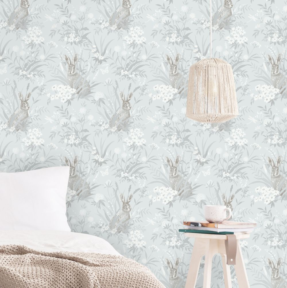 Countryside Wallpaper - Pale Blue - by Albany