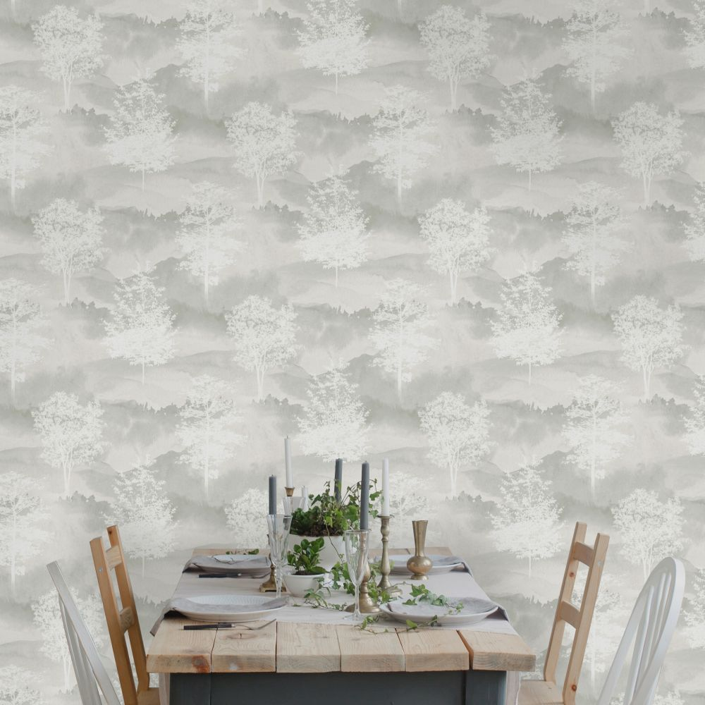 Shetland Wallpaper - Grey - by Albany