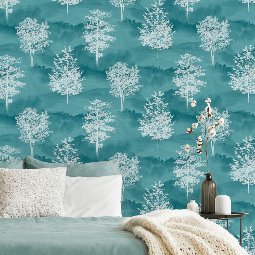 Shetland Wallpaper - Teal - by Albany