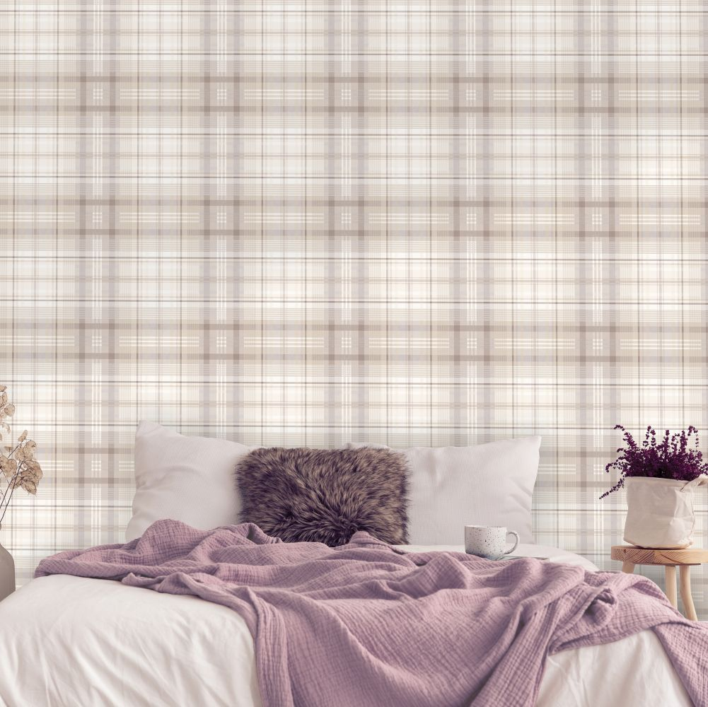 Patterdale Wallpaper - Taupe - by Albany