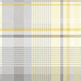 Albany Patterdale Yellow and Grey Wallpaper