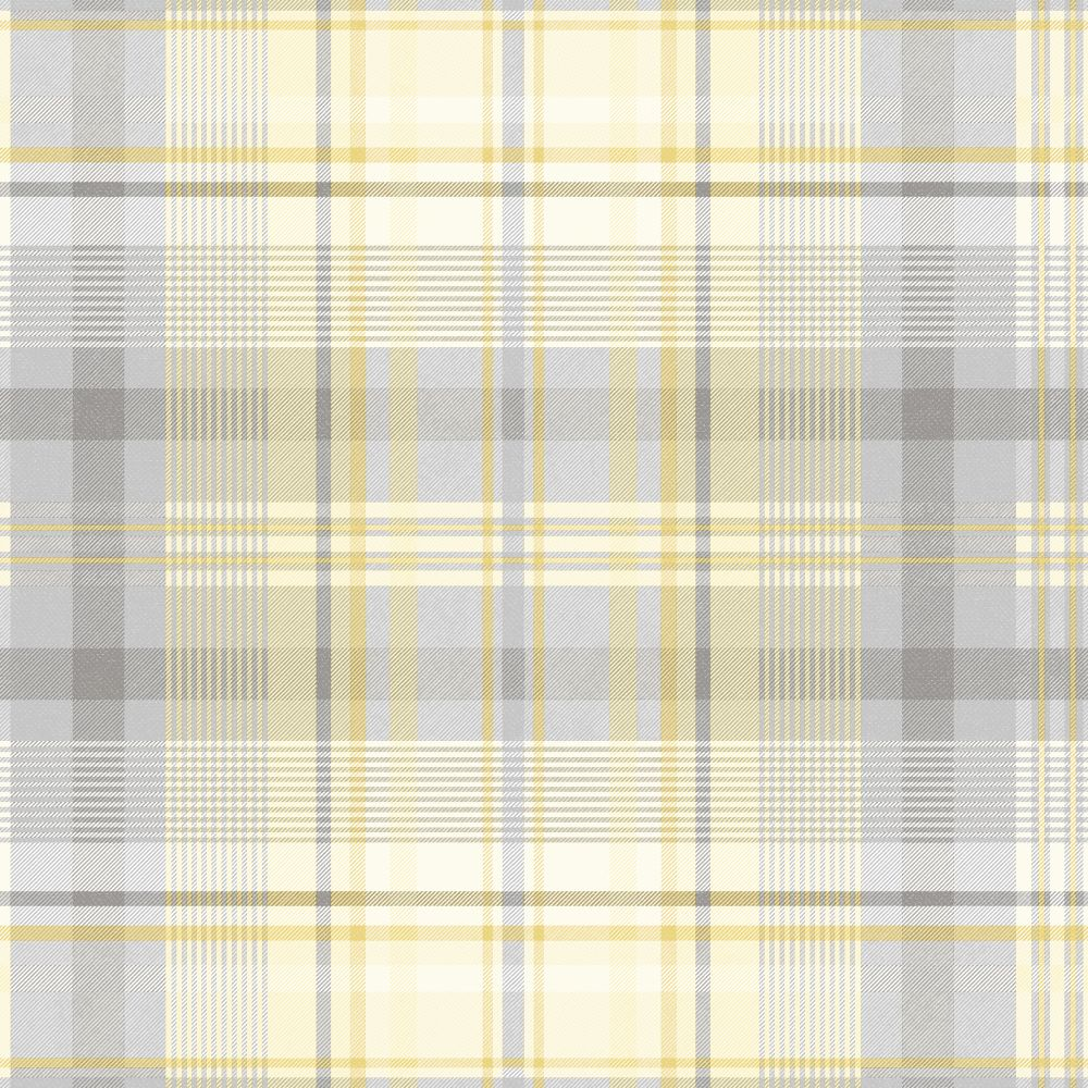 Albany Patterdale Yellow and Grey Wallpaper - Product code: 90832