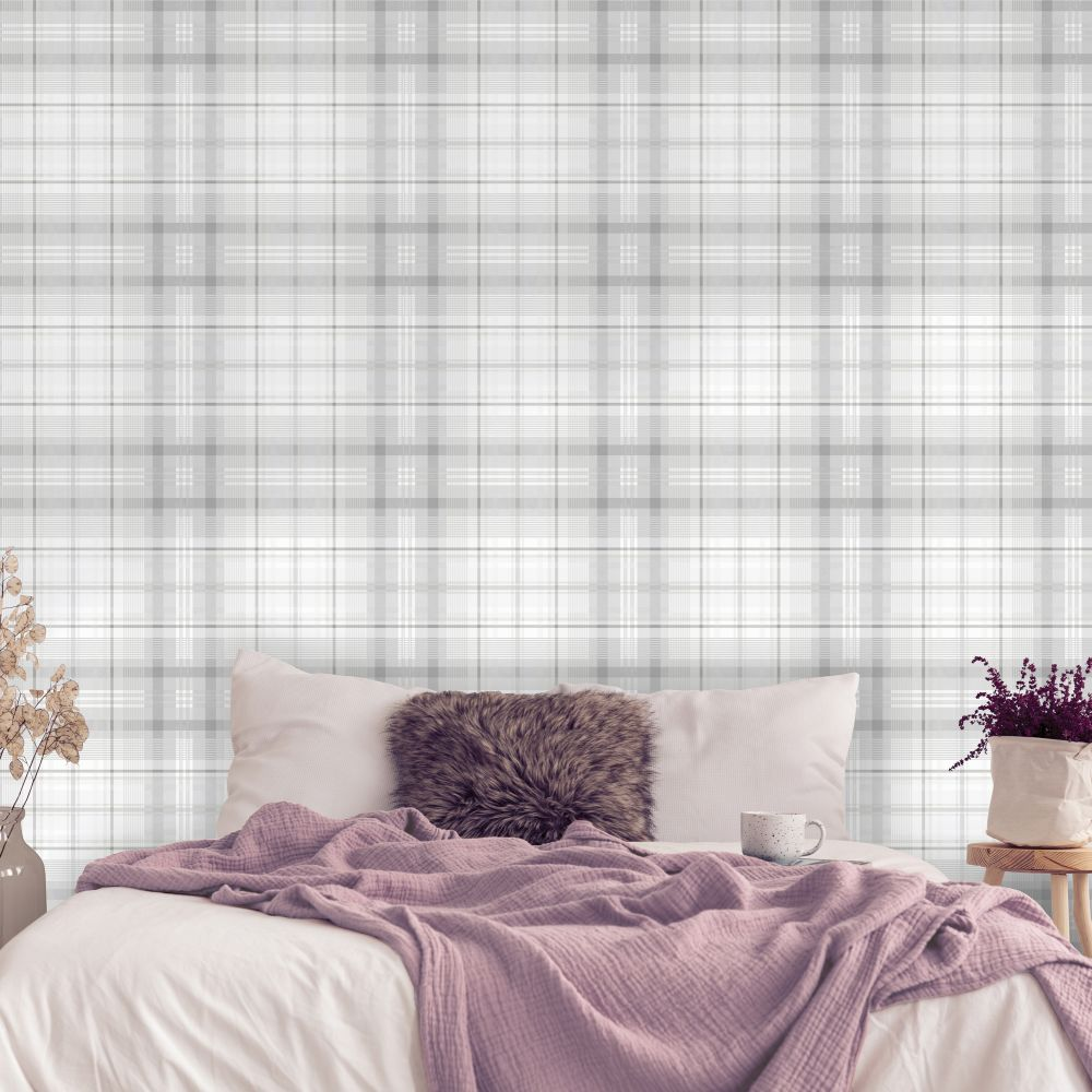 Patterdale Wallpaper - Grey - by Albany