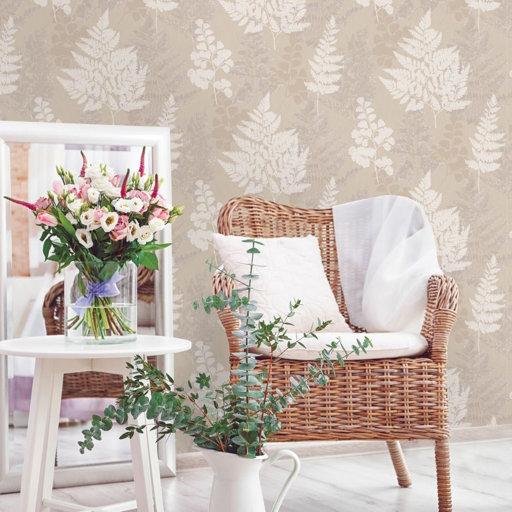 Bramble Wallpaper - Taupe - by Albany