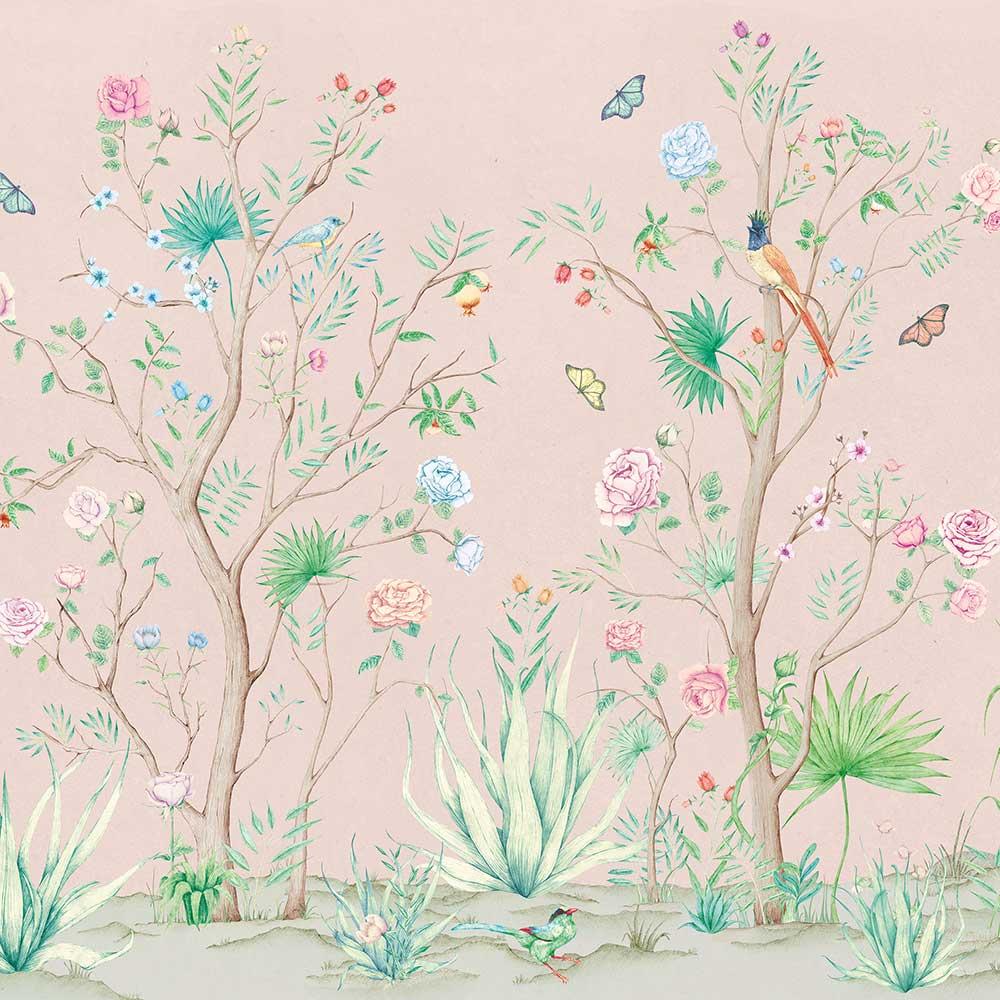 Peonies Mural - Rose - by Coordonne