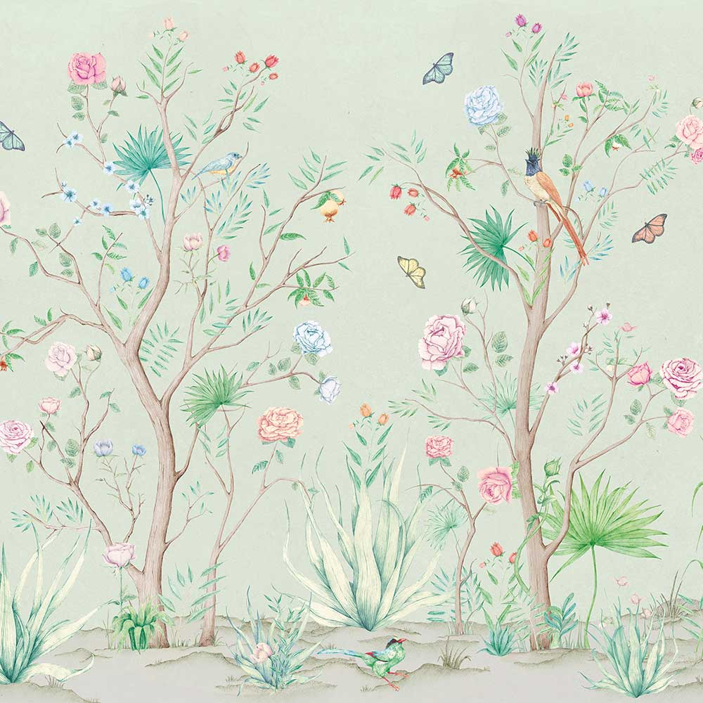 Coordonne Peonies Aloe Mural - Product code: 7900012