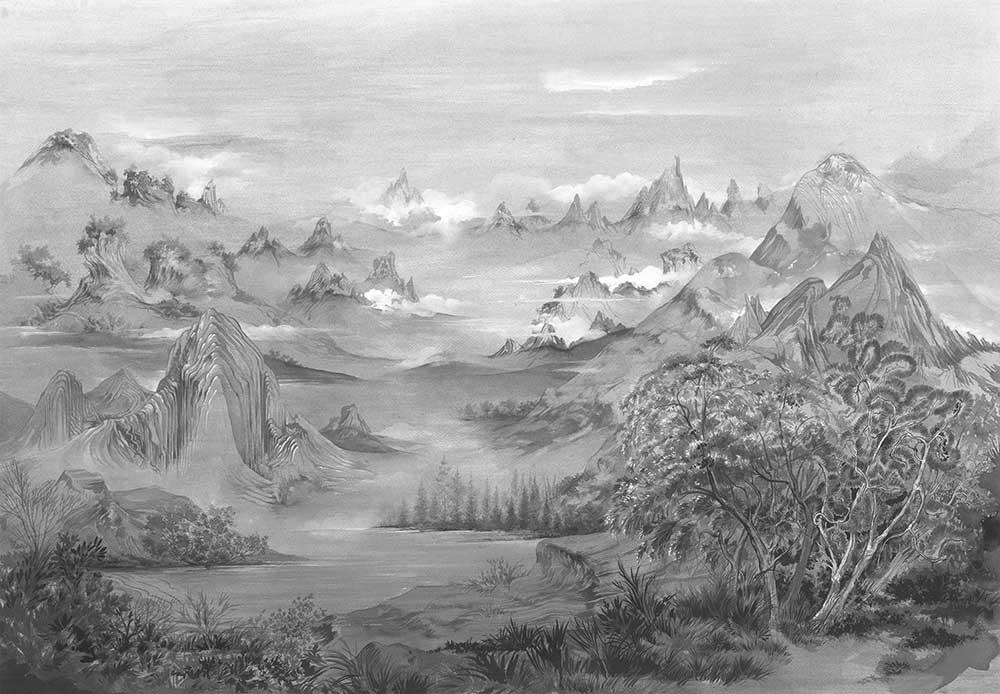 Kami Mural - Chia Seed - by Coordonne
