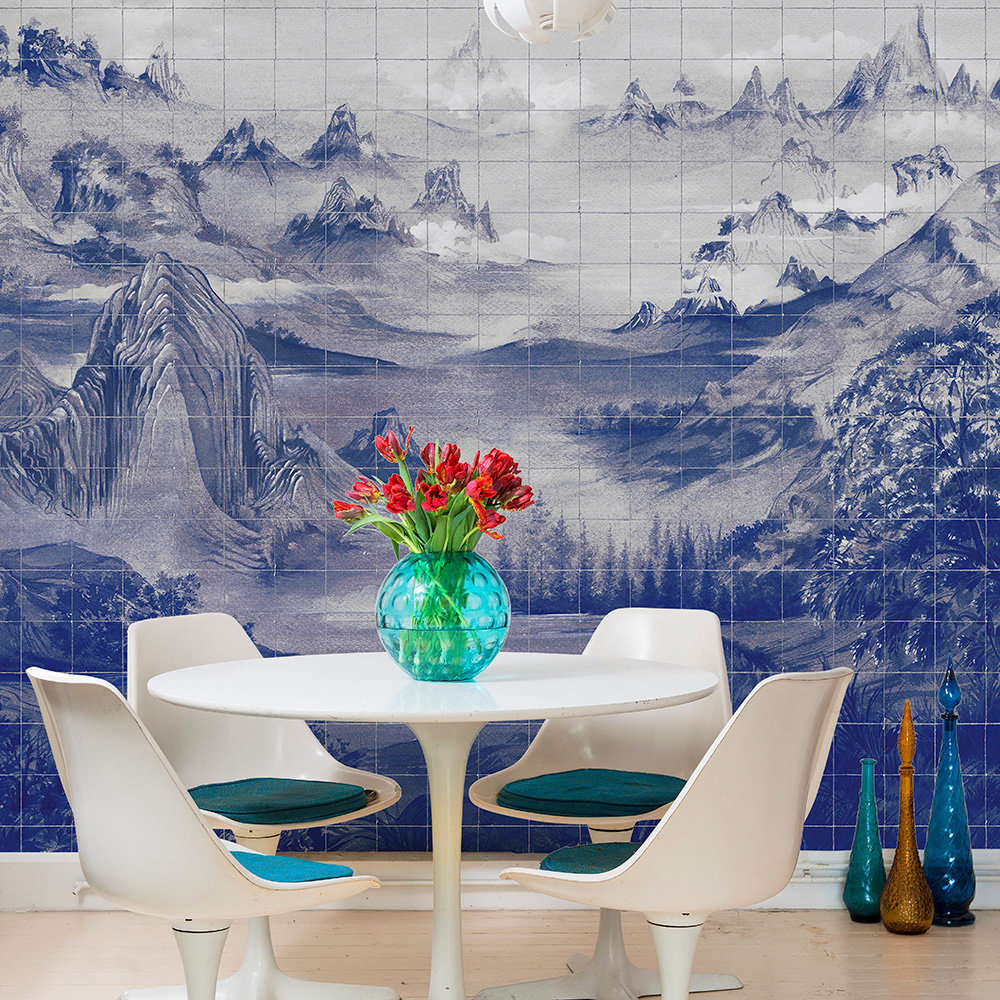 Kami Mural - Blue Spirulina - by Coordonne