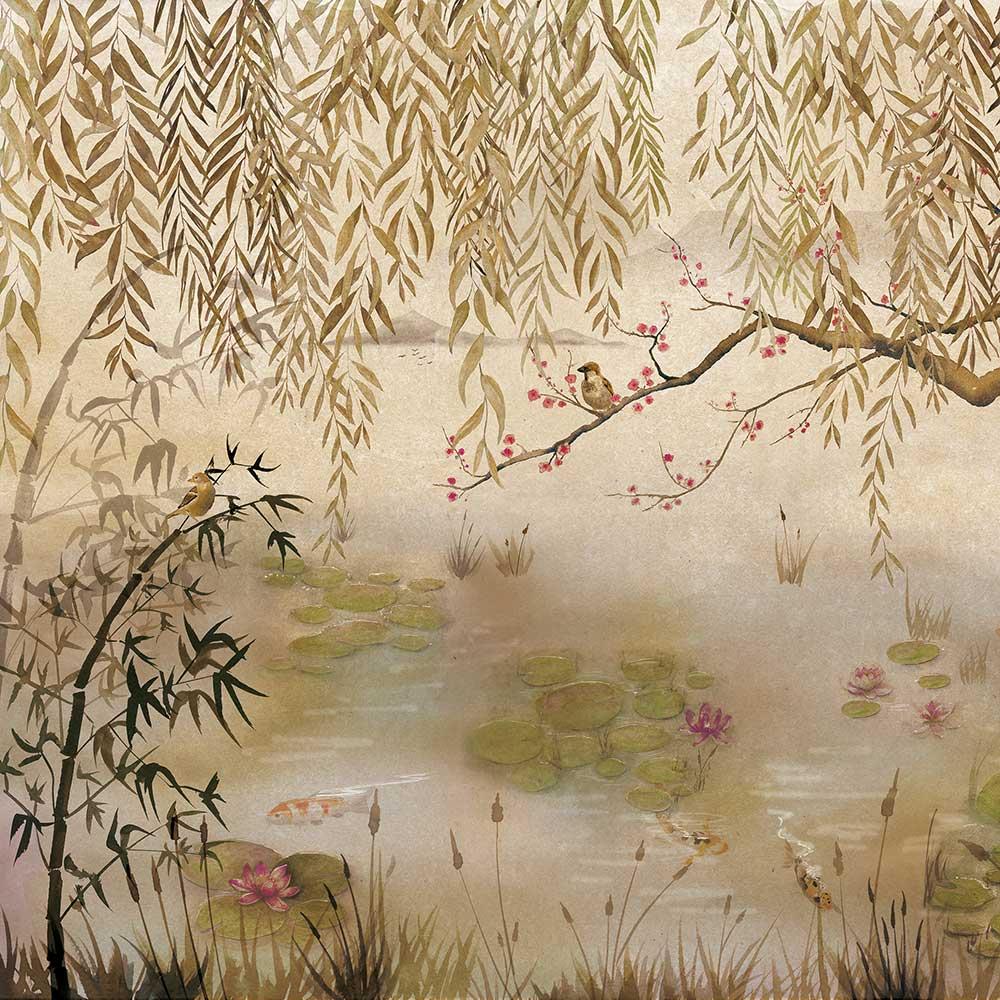 Lotus Mural - Clow - by Coordonne