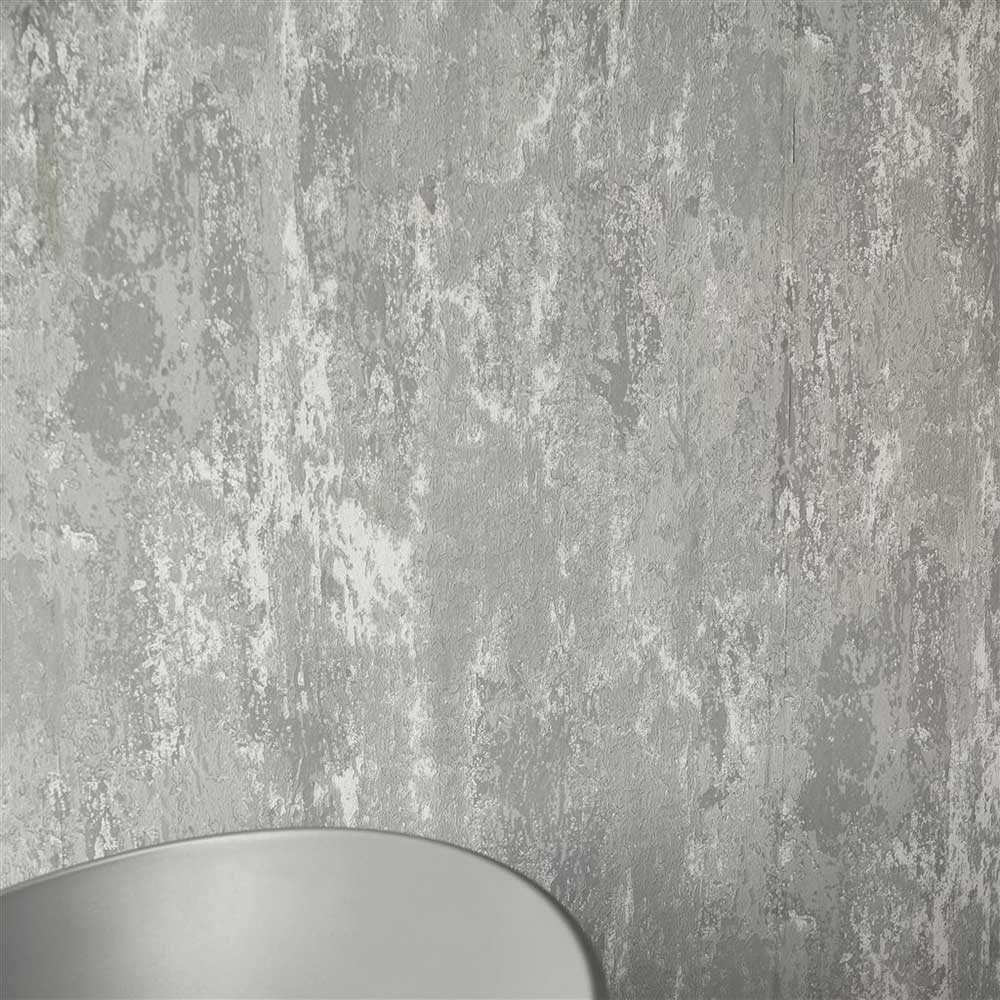 Designers Guild Ajanta Concrete Wallpaper - Product code: P555/19
