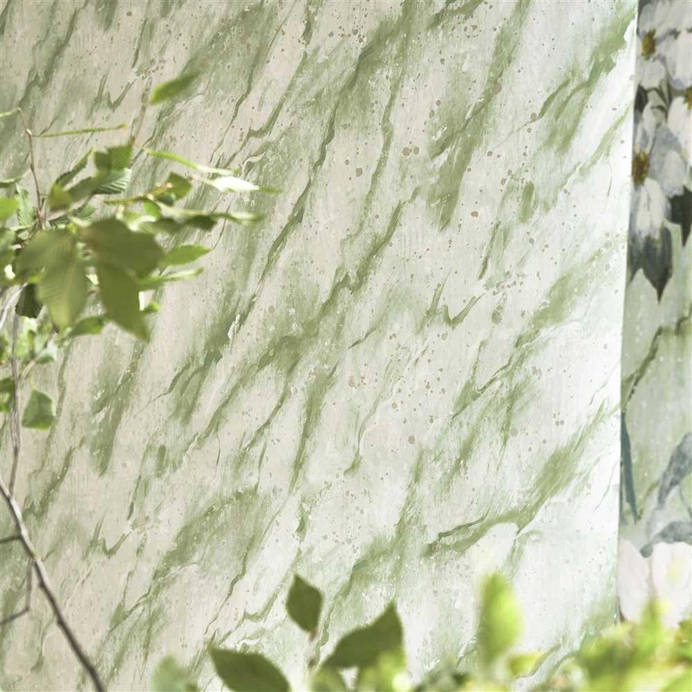 Designers Guild Carrara Grande Verde Wallpaper - Product code: PDG1089/04