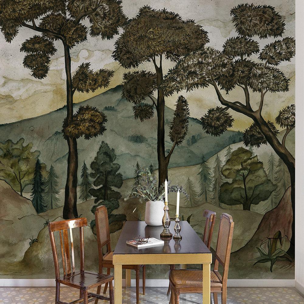 Taklamakan Mural - Aloe - by Coordonne