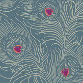 Little Greene Carlton House Terrace Blue Plume Wallpaper - Product code: 0256CTBLUEP