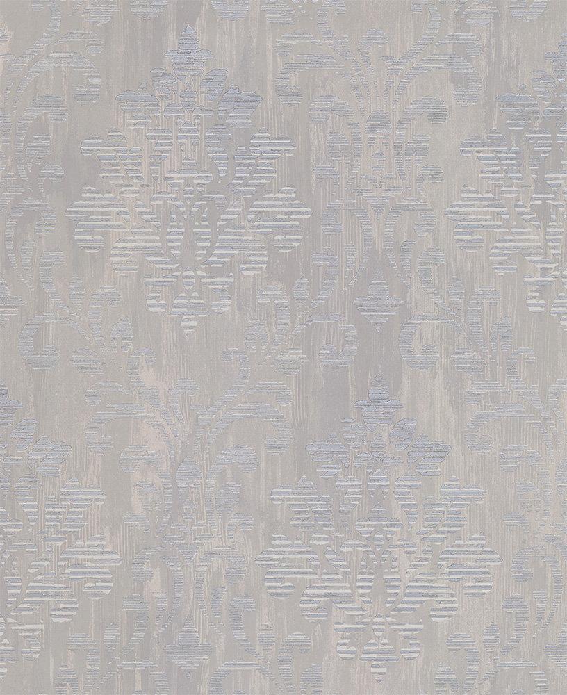 Albany Charice Damask Grey Wallpaper main image