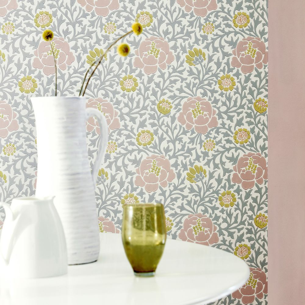 Little Greene Lansdowne Walk Nordic Wallpaper - Product code: 0256LWNORDI