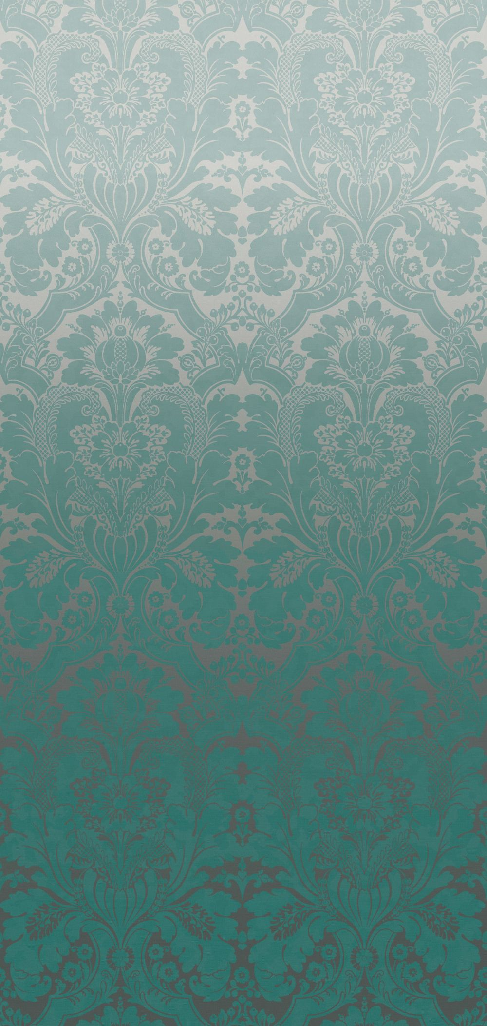 St James's Park Mural - Teal Fade - by Little Greene