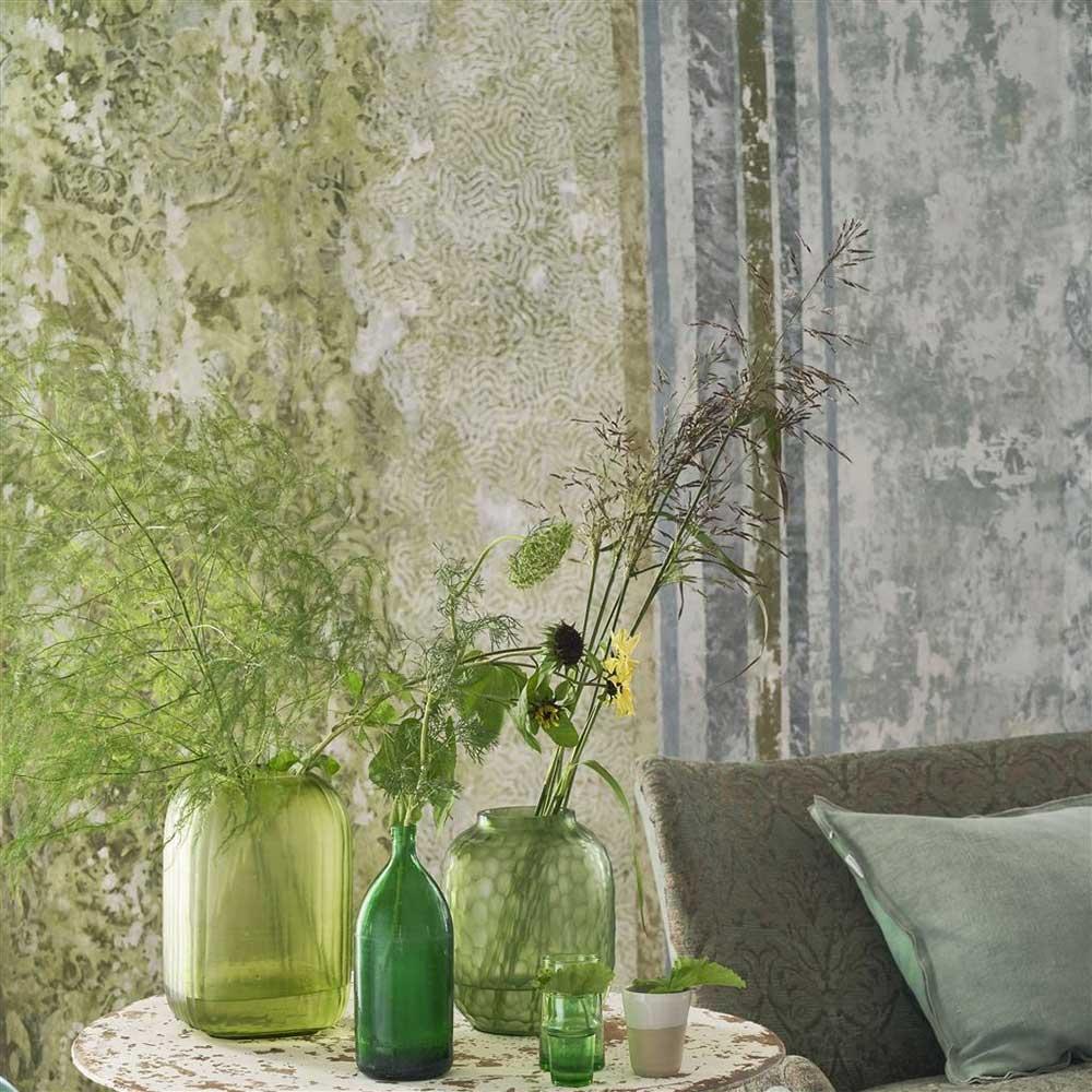 La Rotonda Scene 1 Mural - Olive - by Designers Guild