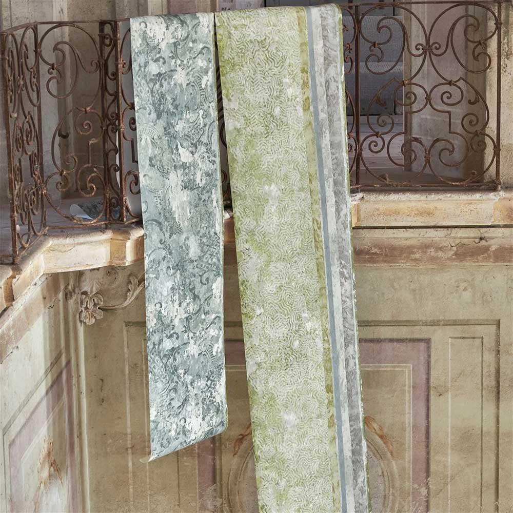 La Rotonda Scene 2 Mural - Olive - by Designers Guild