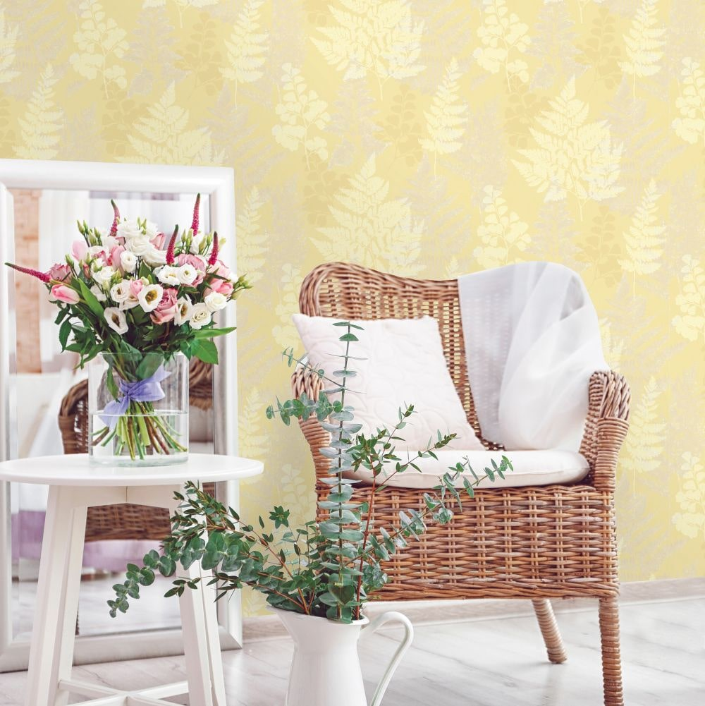 Albany Bramble Yellow Wallpaper - Product code: 90843