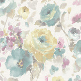Albany Rose Floral Multi-coloured Wallpaper