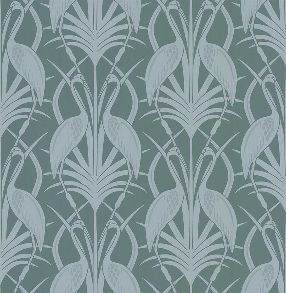 The Chateau by Angel Strawbridge Heron  Teal Wallpaper - Product code: CHWP1A