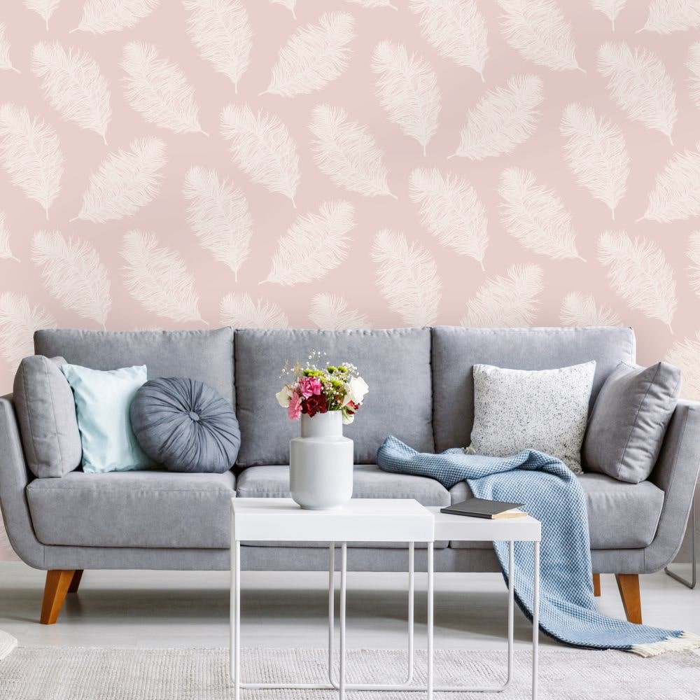 Hawthorn Wallpaper - Pink - by Albany